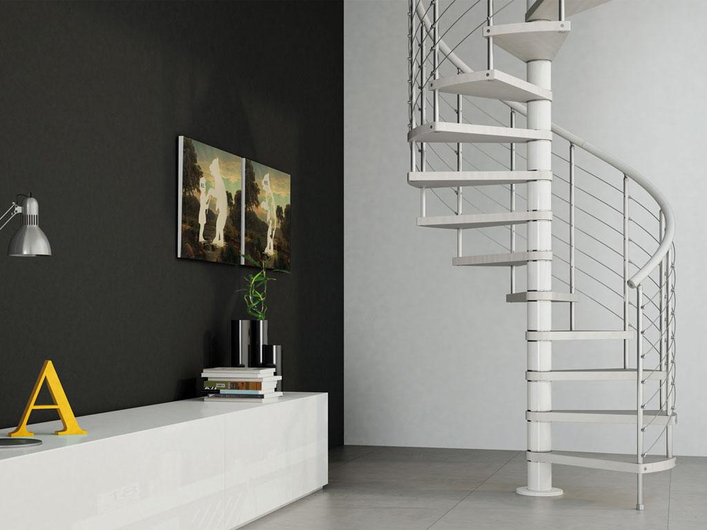 Escaleras en kit rex de fontanot escaleras de caracol de for Escaleras fontanot