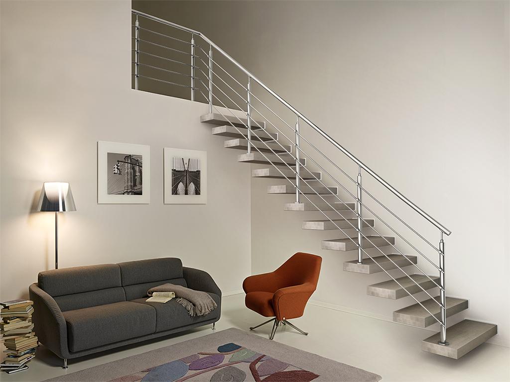 Bausatzstufen wall stil design und funktionalit t treppen fontanot - Soluzioni per chiudere scale interne ...